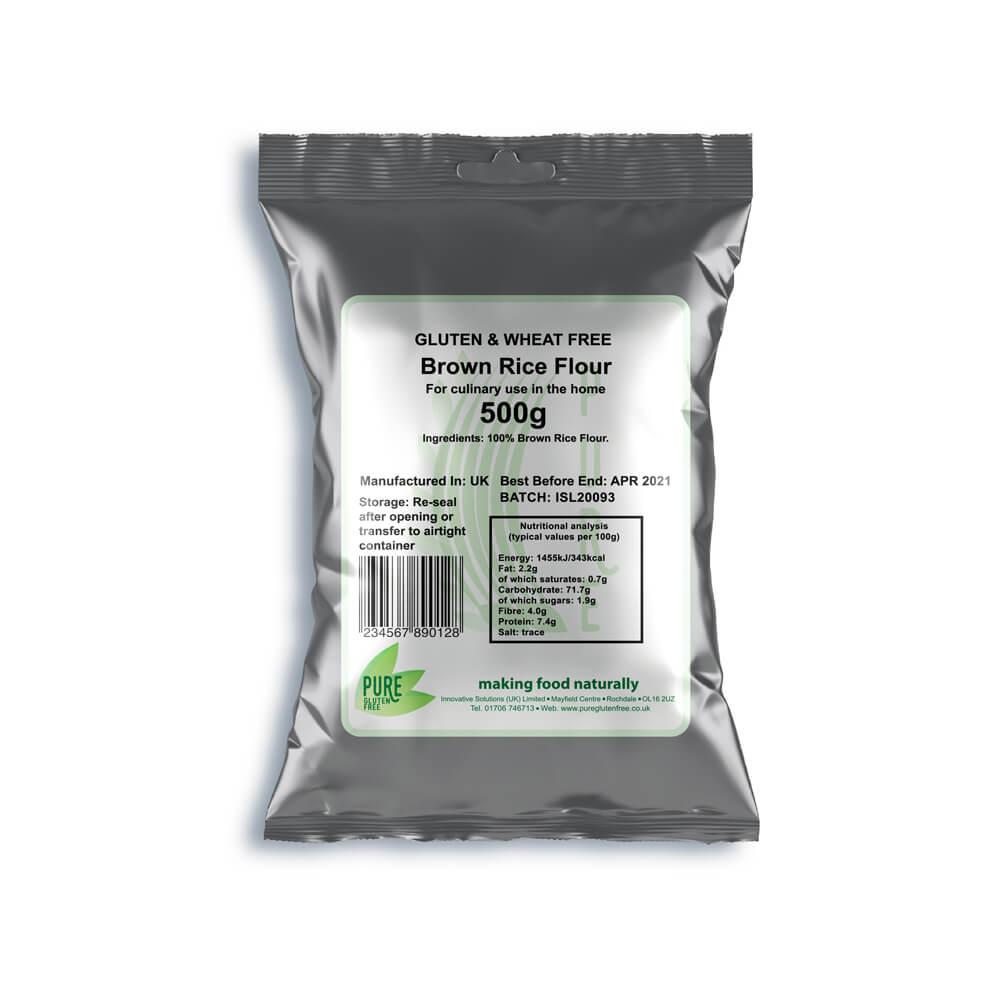 Pure Gluten Free Brown Rice Flour 500g