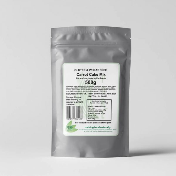 Pure Gluten Free Carrot Cake Mix