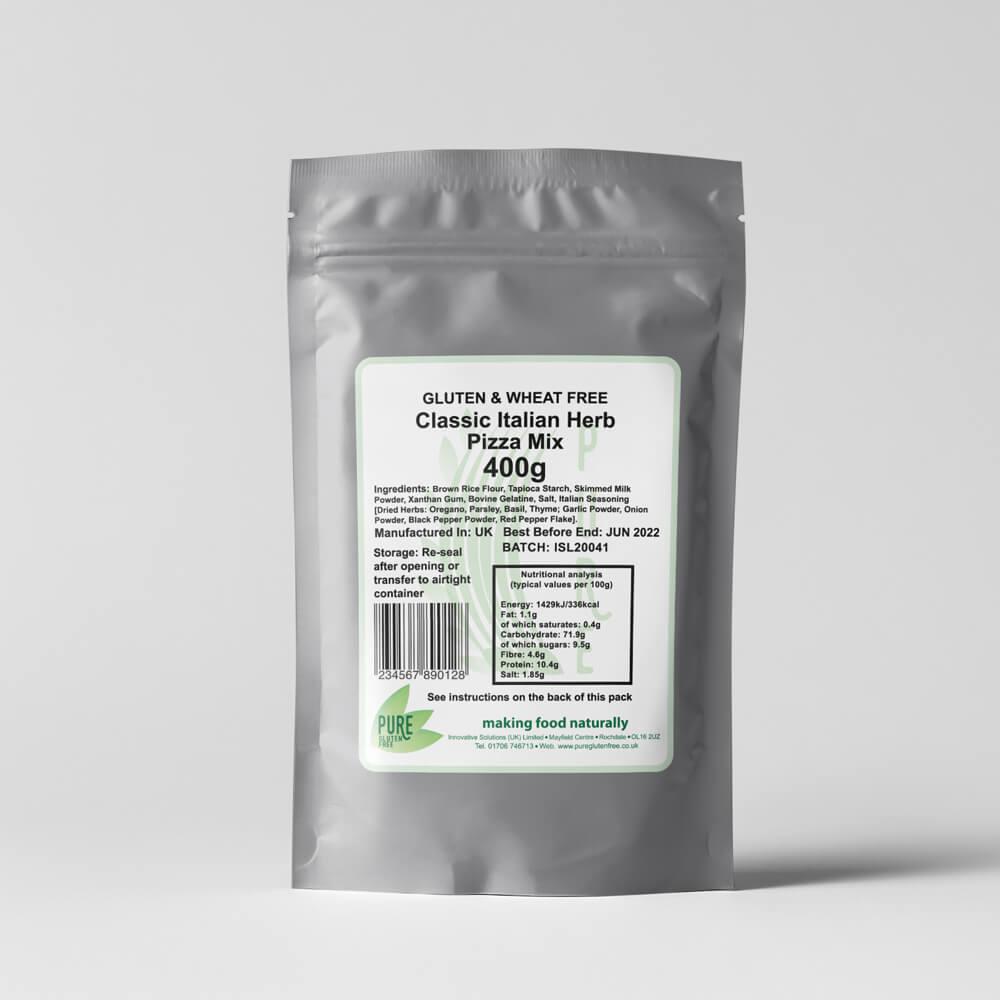 Pure Gluten Free Classic Italian Herb Pizza Mix 400g