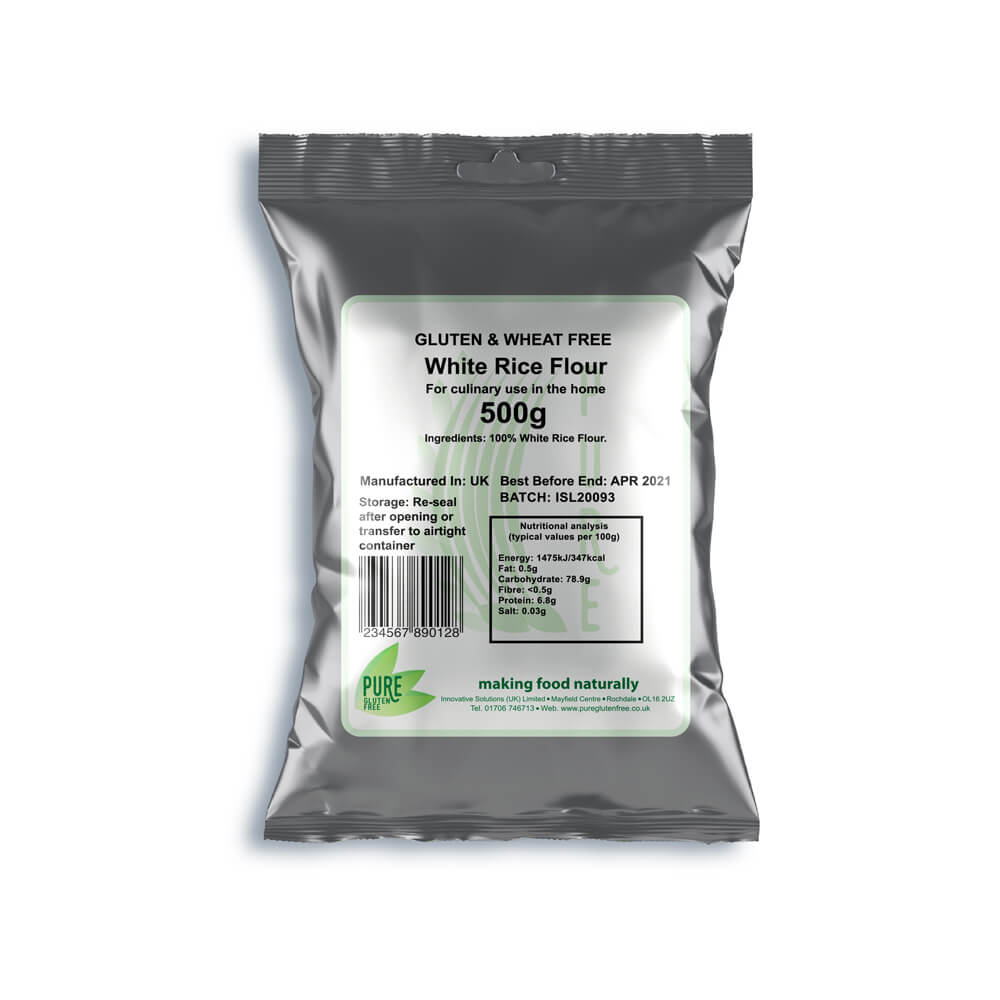 Pure Gluten Free White Rice Flour 500g